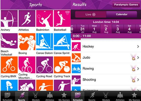 London 2012 Official Results App